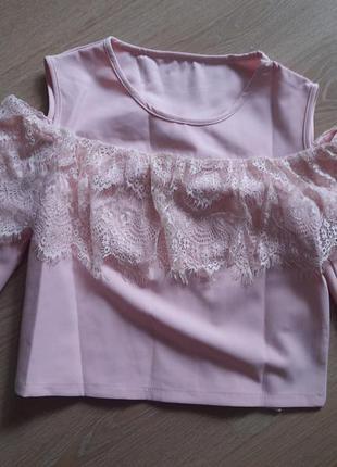 Рожева блуза