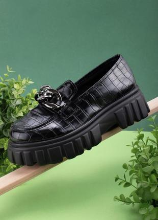 Туфли на платформе с цепочкой топ 2021
