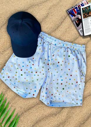 Мужские летние пляжные шорты для плавания пляжа принт морской плавки