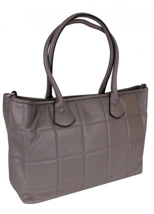 Стильная серая сумка из натуральной кожи от бренда de esse