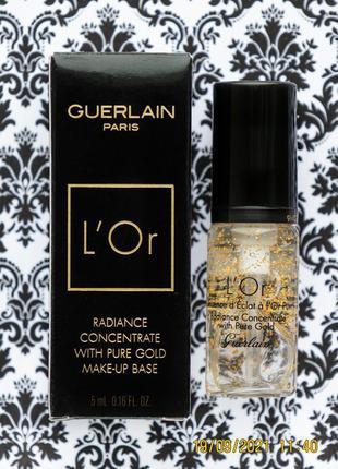 Увлажняющий праймер для сияния кожи guerlain l'or radiance primer увлажняющая база под макияж lor 5м