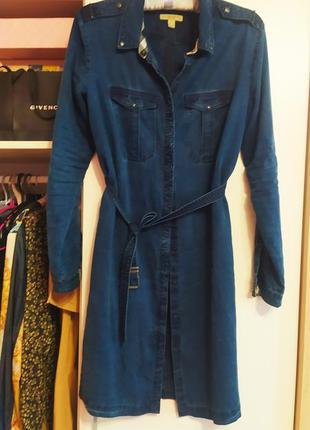 Джинсовое платье рубашка на кнопках burberry оригинал