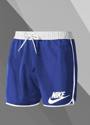 Топовые мужские летние пляжные шорты плавки nike синие купальные шорты найк