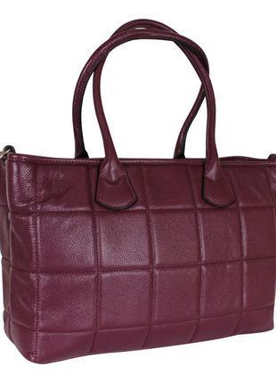 Стильная сумка из натуральной кожи de esse фуксия