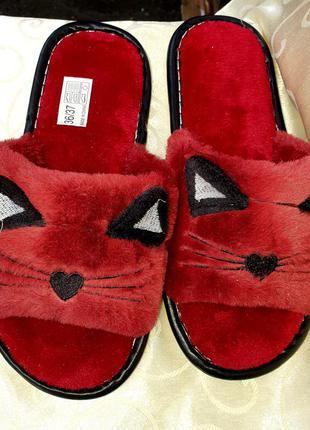 Комнатные тапочки кошки 🐱, комнатные тапочки