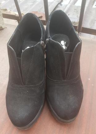 Туфли, ботиночки, осенние, стопа 24 см, каблук 8, платформа 2