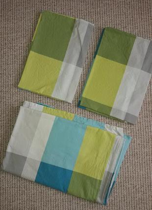 Комплект постельного белья/евро/хлопок/2 новолочки + простынь