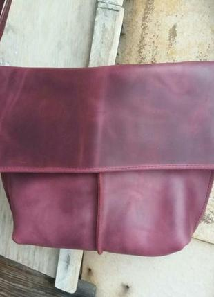 Кожаный клатч. натуральная кожа crazy horse (италия)