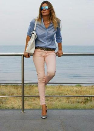 Пудровые джинсы лосины стрейч tally weijl