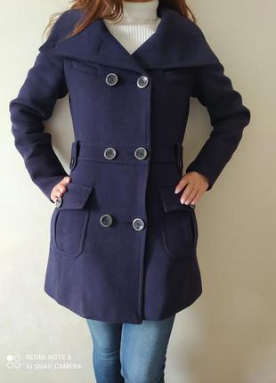 Пальто з шерсти mango, осіннє тепле пальто , стильне пальто р.36 р. s