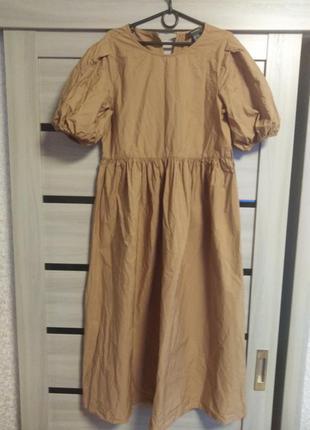 Модное платье в пол рукава фонарики
