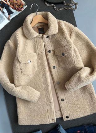 Обалденная меховая куртка-рубашка primark