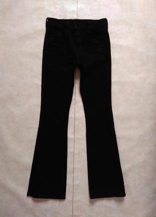 Брендовые черные джинсы клеш с высокой талией h&m, 34 размер.