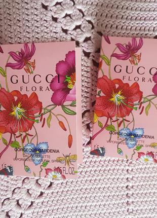 Gucci flora gorgeous gardenia eau de toilette туалетная вода пробник