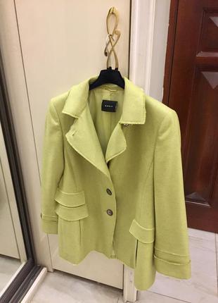 Новий.жакет брендовий akris lime green silk cashmere blend blazer оригінал