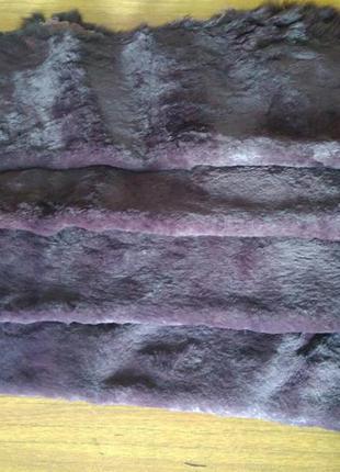 Натуоальный мех кролика стриженый фиолетовый для рукоделия