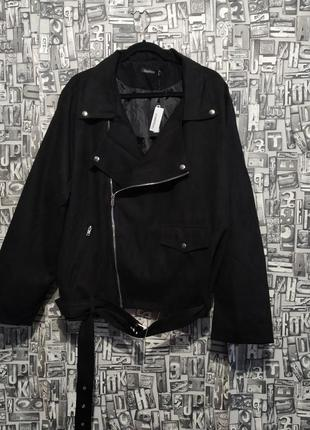 Куртка-косуха, косуха под замшу, байкерская куртка, батал, boohoo.