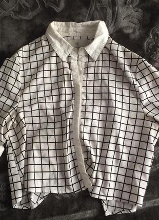 Класна блуза сорочка клетка