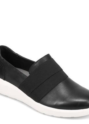 Clarks -  женские кожаные туфли слипоны лоферы балетки - 36,5, 37, 38