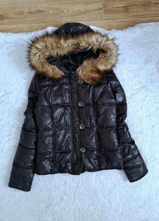Куртка женская деми с мехом силиконовая