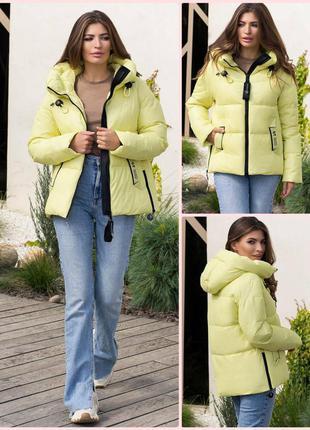 Зимняя куртка *биопух* (4 цвета)* отличное качество