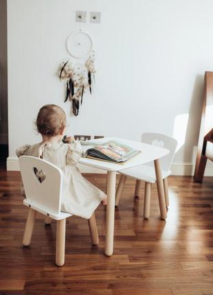 Детский столик и 2 стульчика tatoy heart для детей 2-4 лет