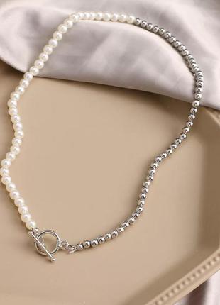 Нежное ожерелье с жемчугом лассо