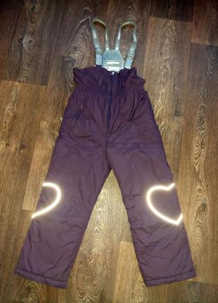 Зимний термо полукомбинезон штаны lenne