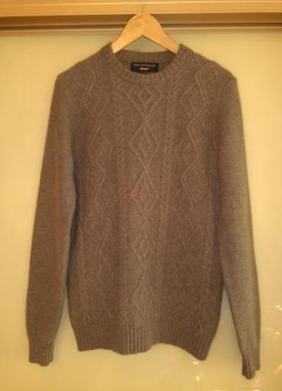 Шерстяной свитер/джемпер в косы paul costelloe (100% шерсть мериноса)