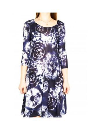 Фирменное оверсайз платье с длиным рукавом туника бохо хиппи тай дай container дания