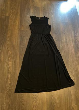 Платье шикарное мини с шифоном в пол .
