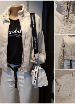 Короткая теплая куртка пиджак жакет ветровка