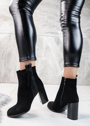 Демисезонные ботинки на каблуке, с замком, ботинки каблук, ботінки на каблуку 38,40р