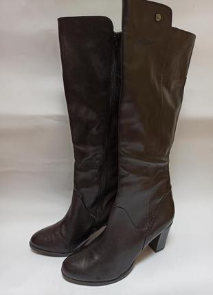 No stress сапоги кожаные, демисезонные черные.брендовая обувь stock