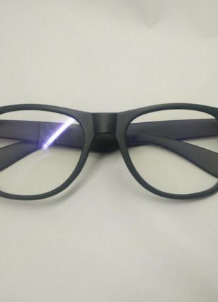 Очки оправа wayfarer ретро прозрачные линзы черные матовые, цена ... 085913c50a0