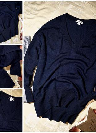 Пуловер 100% шерсть мериноса whistles (s) не ношенный