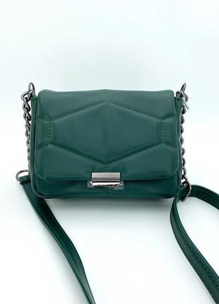 Маленькая стеганая женская сумка из экокожи высокого качества