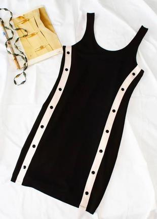 Спортивное облегающее платье с лампасами h&m