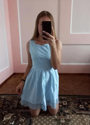 Ніжне блакитне плаття