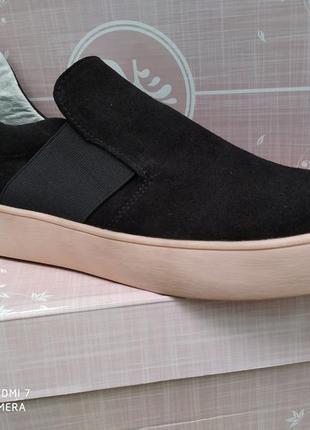 Туфли , макасины натуральный замш