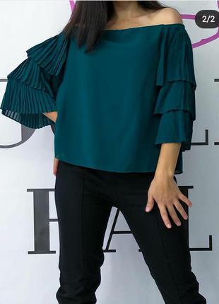 Шикарна святкова блуза з воланами vero moda