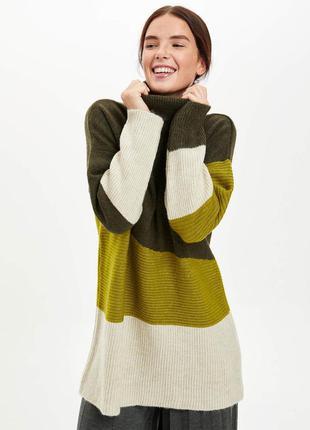 Новый женский свитер-туника de facto, производство турция, размер l оверсайз