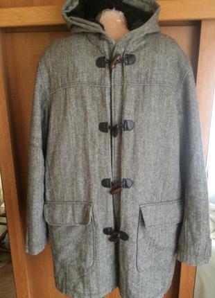 Куртка. мужское пальто, на осень, внутри мех,  lime.