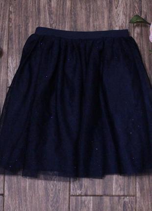 Темно-синяя фатиновая юбка h&m 6-8 лет