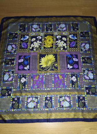 Brioni коллекционный редкий экземпляр, великолепный винтажный большой платок, шелк