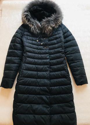 Пуховик пальто плащ куртка чорнобурка чернобурка песец