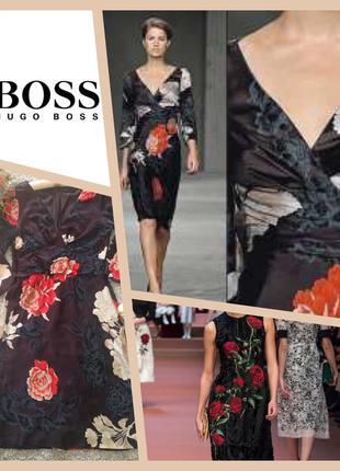 Божественное елитное брендовое шелковое платье миди