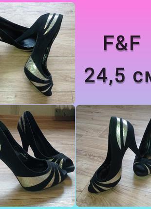 Туфли, босоножки f&f 24,5см