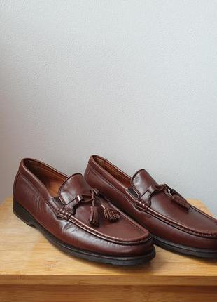 Туфли лоферы кожа allen edmonds