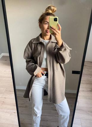 Куртка рубашка шерсть